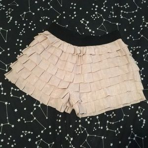 Light pink tiered forever 21 shorts size xs